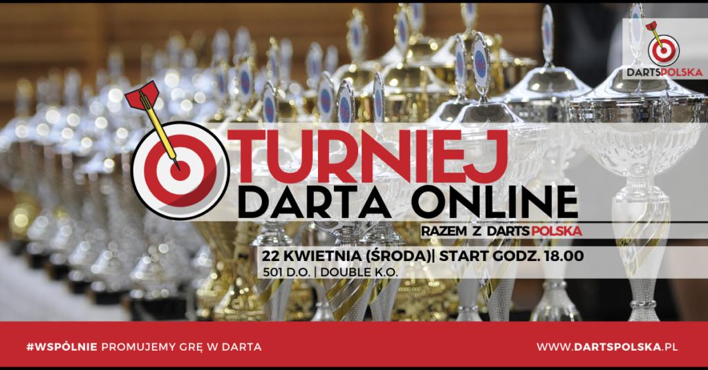 turniej darta online - plakat - środa 22.04