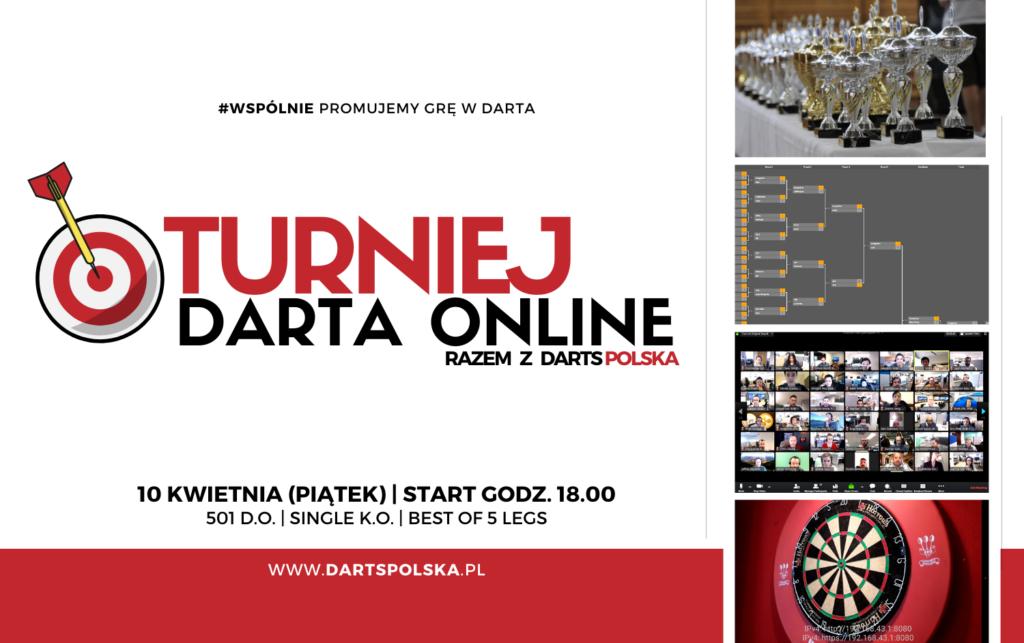 turniej darta online - plakat