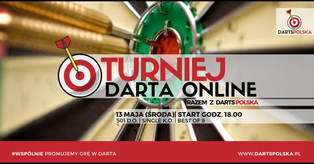 turniej darta online zapowiedź plakat 13.05